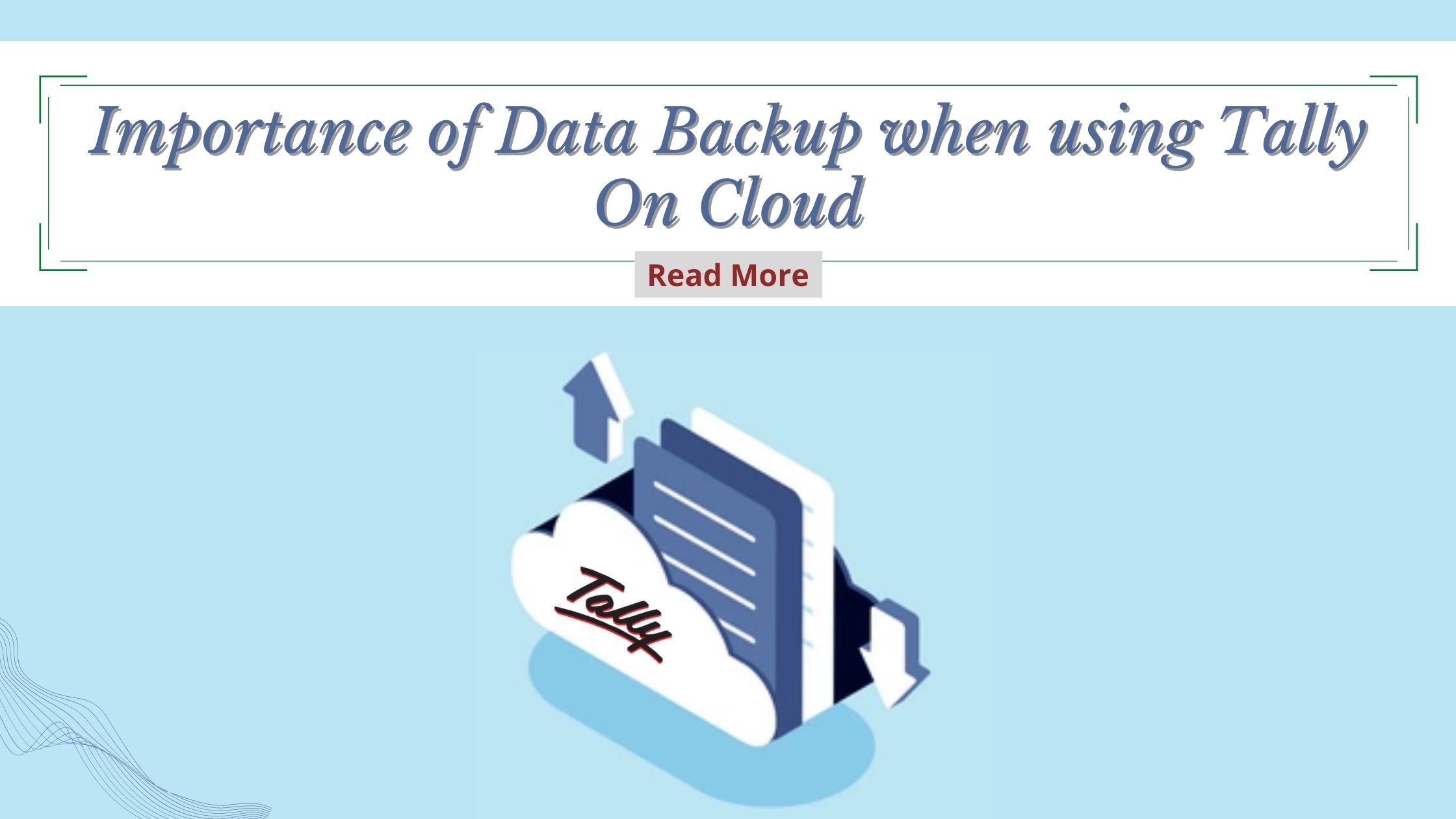 Data Backup Tally Cloud solution