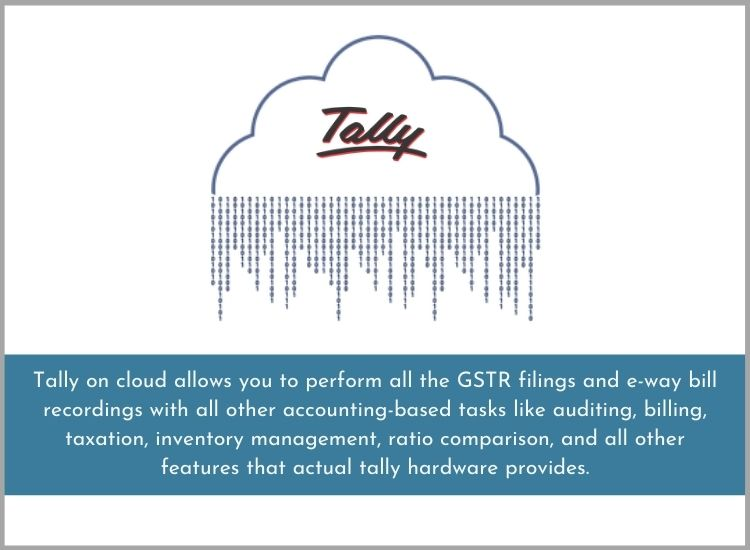 Tally on cloud gst ready