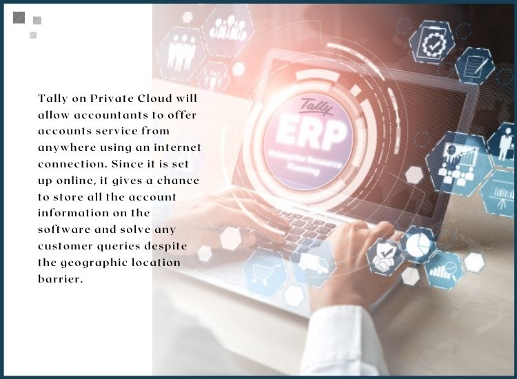 Private cloud for tally erp