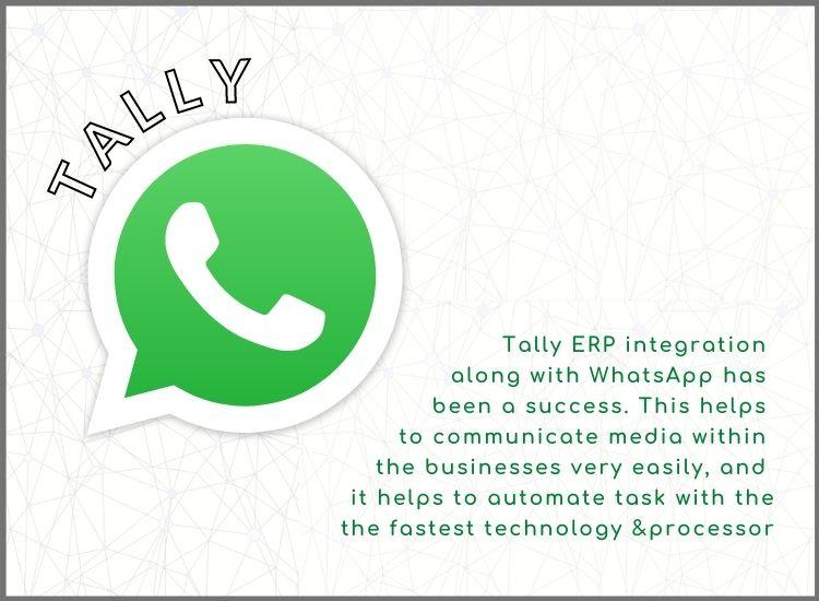 Tally erp whatsapp