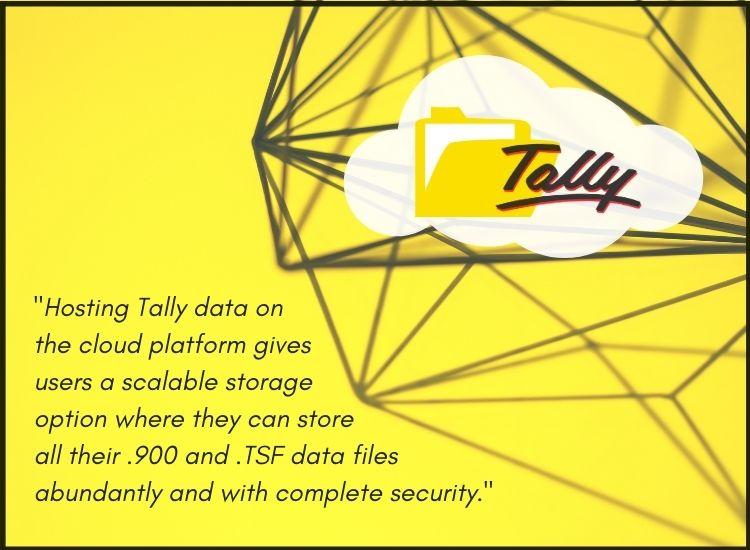 Hosting tally data on cloud