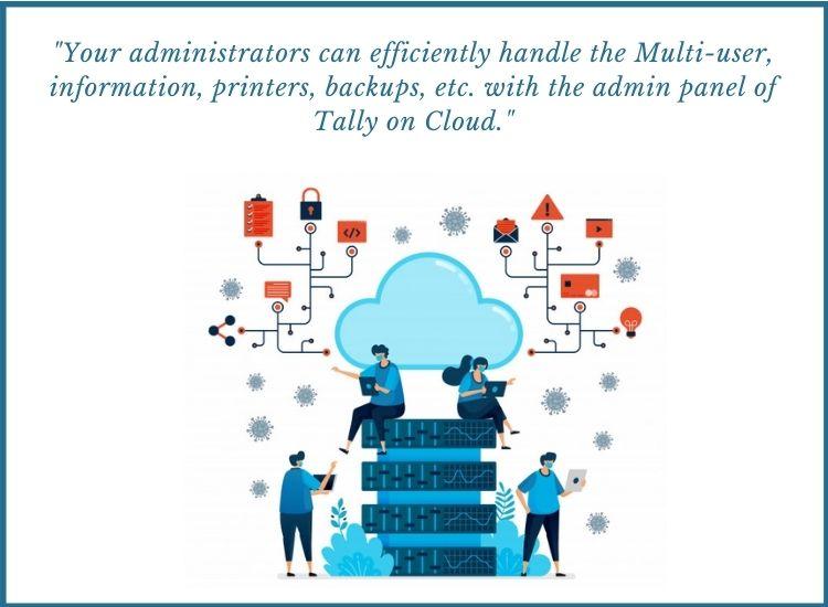 tally on cloud admin panel